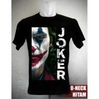 Kaos Joker Half Face Ukuran S sd XL