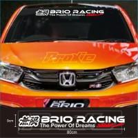 Cutting sticker Mobil Stiker BRIO RACING Terkeren dan Termurah