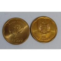 Uang Lama Koin Kuno Rp 500 Tahun 1991 Melati Besar Pecahan Dari Roll