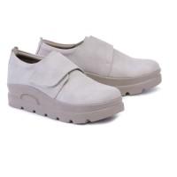 Sepatu Boots Wanita Casual Trendy - Sneakers Wedges Sinete G.36 Cream