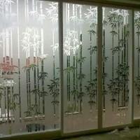 sticker kaca motif bambu cutting