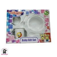LUSTY BUNNY Baby Feeding Gift Set Alat Makan Bayi isi 5 - LB 1403