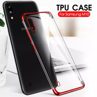 Case Samsung M10 softcase casing hp back cover ultra thin TPU PLATING