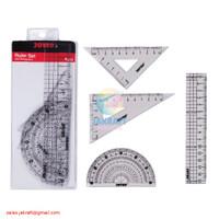 Paket Penggaris Matematika Busur Siku Mistar JOYKO Math Set RL-PS2