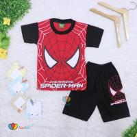 Setelan Pendek SuperHero Uk 1 2 Tahun Kaos Anak Laki Cowok Celana Pen