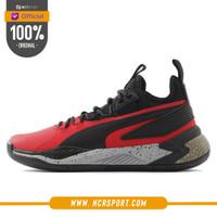 Sepatu Basket Puma Uproar Hybrid Court Core Black Red Original 192775-
