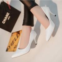 CHAODAMA Sepatu High Heels Ujung Lancip untuk Musim Semi Gugur
