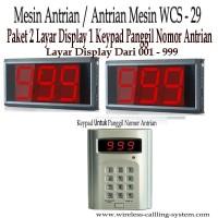Paket Mesin Antrian System 2 Display 1 Keypad Calling Button