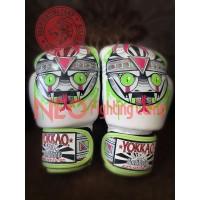 YOKKAO APEX Snake Muay Thai Boxing Gloves White