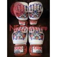 YOKKAO APEX Tiger Muay Thai Boxing Gloves White
