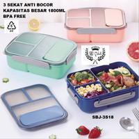 SBJ Lunch Box Kotak Makan Anti Bocor 3sekat BPA Free 1800 ML Vs YOOYEE