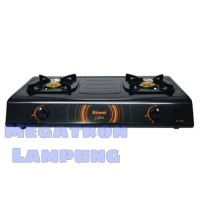 Kompor Gas 2 Tungku Rinnai 522 C Teflon