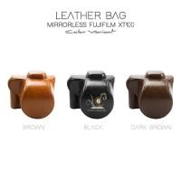 Fujifilm X-T100 / XT100 Leather Bag / Case / Tas Kamera Kulit Fuji