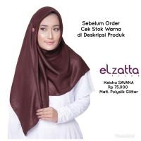 Hijab Jilbab Kerudung Segi Empat KEISHA SAVANA Scarf ELZATTA Original