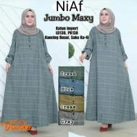 Baju Gamis Maxi Dress Katun Kotak Tartan Jumbo Big Size LD 130cm Terba