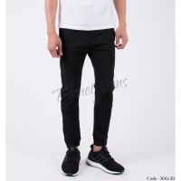 Celana Jogger Pants bahan Dry Fit Sweat Pants Hitam Pria JOG20