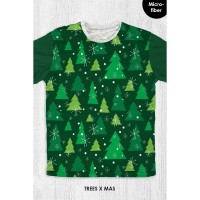 Kaos Natal Anak & Dewasa - TREES XMAS