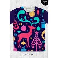 Kaos Natal Anak & Dewasa - DEER SILUET