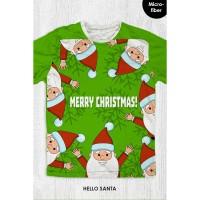 Kaos Natal Anak & Dewasa - HELLO SANTA
