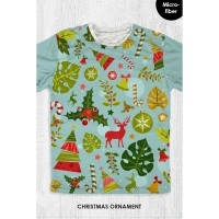 Kaos Natal Anak & Dewasa - CHRISTMAS ORNAMENT LEAVES