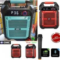 Speaker bluetooth GMC 897B & Microphone Wireless Super Bass 8 Inch