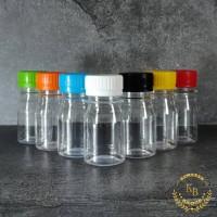 Botol Kapsul BP2 50ML / Botol Plastik 50ML / Botol Wadah Kapsul - Tutup Oren