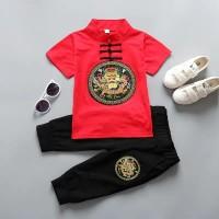 Cheongsam Setelan Baju Anak Import Set Kaos Anak Kualitas Premium 1