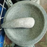 cobek bubut batu asli ukuran 20 cm