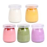 Botol Jar Toples Kaca (ukuran PENDEK) : Kue / Selai / Susu / Yoghurt