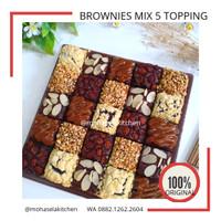[TERLARIS] Brownies Panggang Cokelat Mix 5 Toping Full