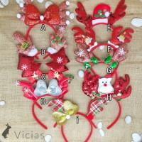 BAN15 - Bando Bandana Pesta Natal Christmas TANDUK RUSA motif PREMIUM