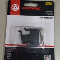 Kampas rem pacific sepeda MTB model segi untuk cakram Shimano