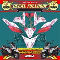 DECAL STIKER MOTOR FULL BODY YAMAHA X-RIDE DESAIN BUNGA