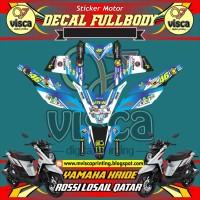 DECAL STIKER MOTOR FULL BODY YAMAHA X-RIDE ROSSI LOSAIL QATAR