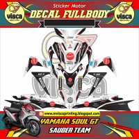 DECAL STIKER MOTOR FULL BODY YAMAHA SOUL GT DESAIN SAUBER TEAM