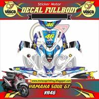 DECAL STIKER MOTOR FULL BODY YAMAHA SOUL GT DESAIN VR46
