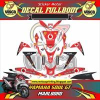DECAL STIKER MOTOR FULL BODY YAMAHA SOUL GT DESAIN MARLBORO