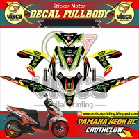 DECAL STIKER MOTOR FULL BODY YAMAHA XEON RC DESAIN CRUTCHLOW