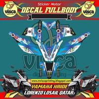 DECAL STIKER MOTOR FULL BODY YAMAHA X-RIDE LORENZO LOSAIL QATAR