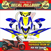 DECAL STIKER MOTOR FULL BODY YAMAHA XEON RC DESAIN VIA VIA SHARK