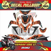 DECAL STIKER MOTOR FULL BODY YAMAHA SOUL GT DESAIN ORANGE