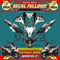 DECAL STIKER MOTOR FULL BODY YAMAHA X-RIDE DESAIN JUVENTUS FC