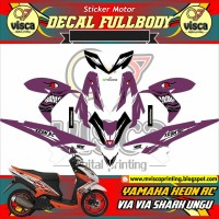 DECAL STIKER MOTOR FULL BODY YAMAHA XEON RC DESAIN VIA VIA SHARK UNGU
