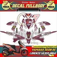DECAL STIKER MOTOR FULL BODY YAMAHA XEON RC DESAIN LORENZO SILVER UNGU