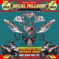 DECAL STIKER MOTOR FULL BODY YAMAHA X-RIDE DESAIN MULISHA MILITA