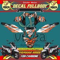 DECAL STIKER MOTOR FULL BODY YAMAHA X-RIDE FOX CARBONE
