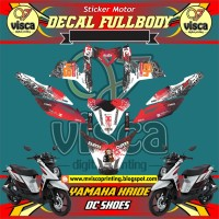 DECAL STIKER MOTOR FULL BODY YAMAHA X-RIDE DESAIN DC SHOES