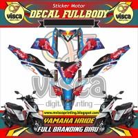 DECAL STIKER MOTOR FULL BODY YAMAHA X-RIDE FULL BRANDING BIRU