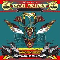 DECAL STIKER MOTOR FULL BODY YAMAHA X-RIDE DESAIN ROCKSTAR ENERGYDRINK