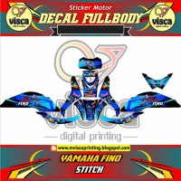 DECAL FINO STIKER FINO FULL BODY YAMAHA FINO MOTIF STITCH